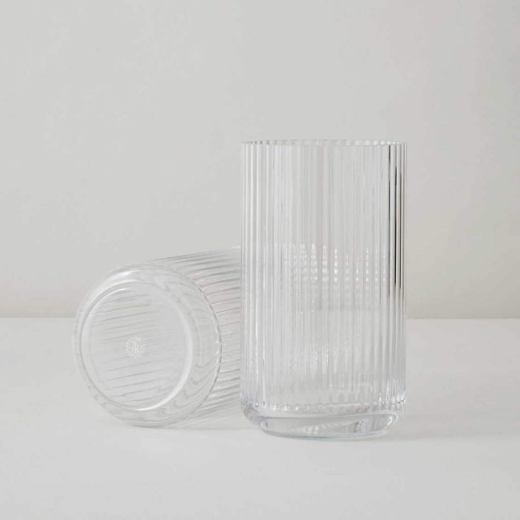 Lyngby Porcelæn Lyngbyvase H31 clear mouth blown glass