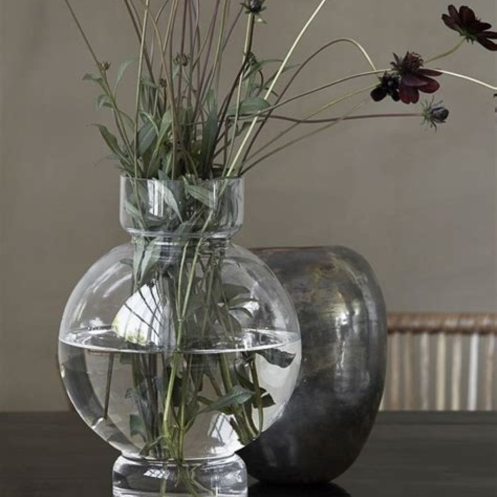 House Doctor Vase, Bubble, Clear