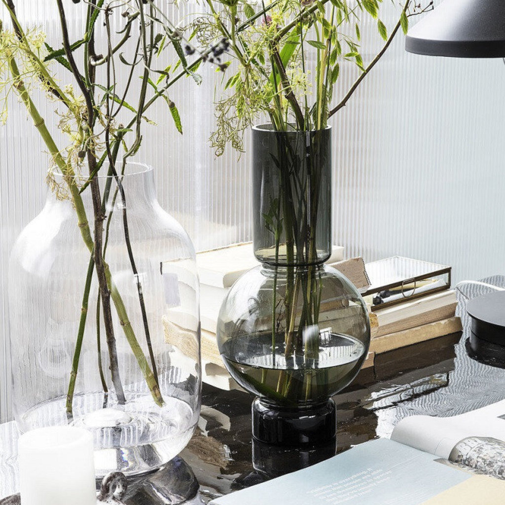 House Doctor Vase, Bubble, Grey