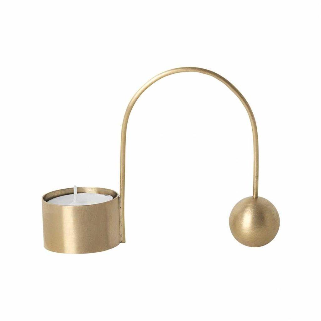 Ferm Living Balance Tealight Holder - Brass