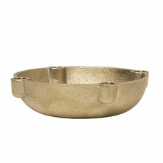 Ferm Living Bowl Candle Holder - Brass - Small