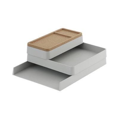 Muuto Arrange Desktop Series - Config 1 - Grey + Cork