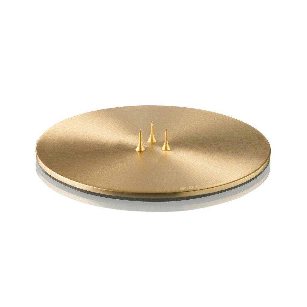 Ester & Erik Candle Plate - MATT GOLD