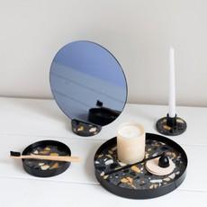 Lucie  Kaas Mirror black terrazzo