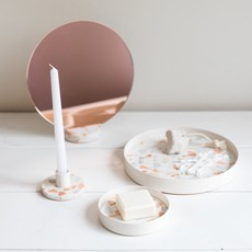 Lucie  Kaas Mirror pink terrazzo