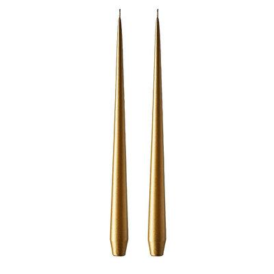 Ester & Erik Candles 22cm - GOLD 90 - 2 stuks