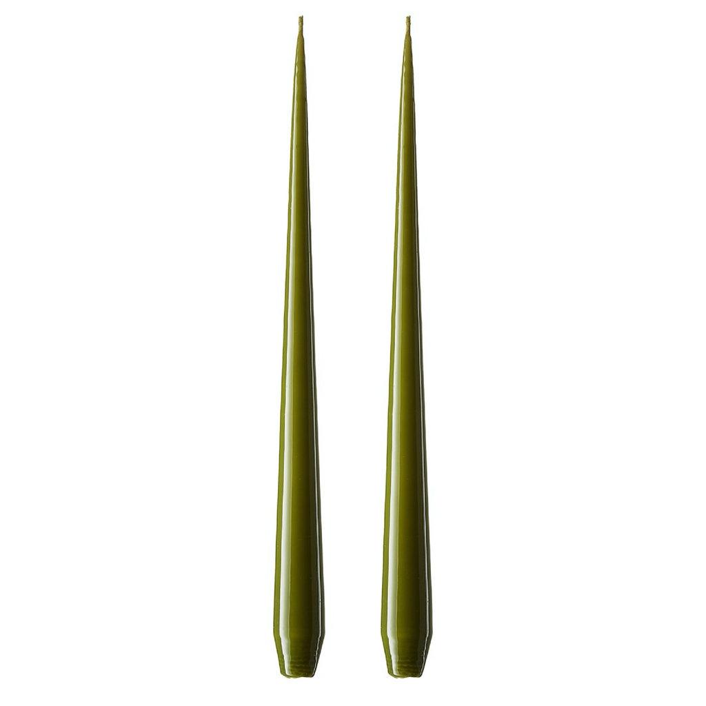 Ester & Erik Lacque Candles 42cm - ARMY GREEN 70 - 2 stuks