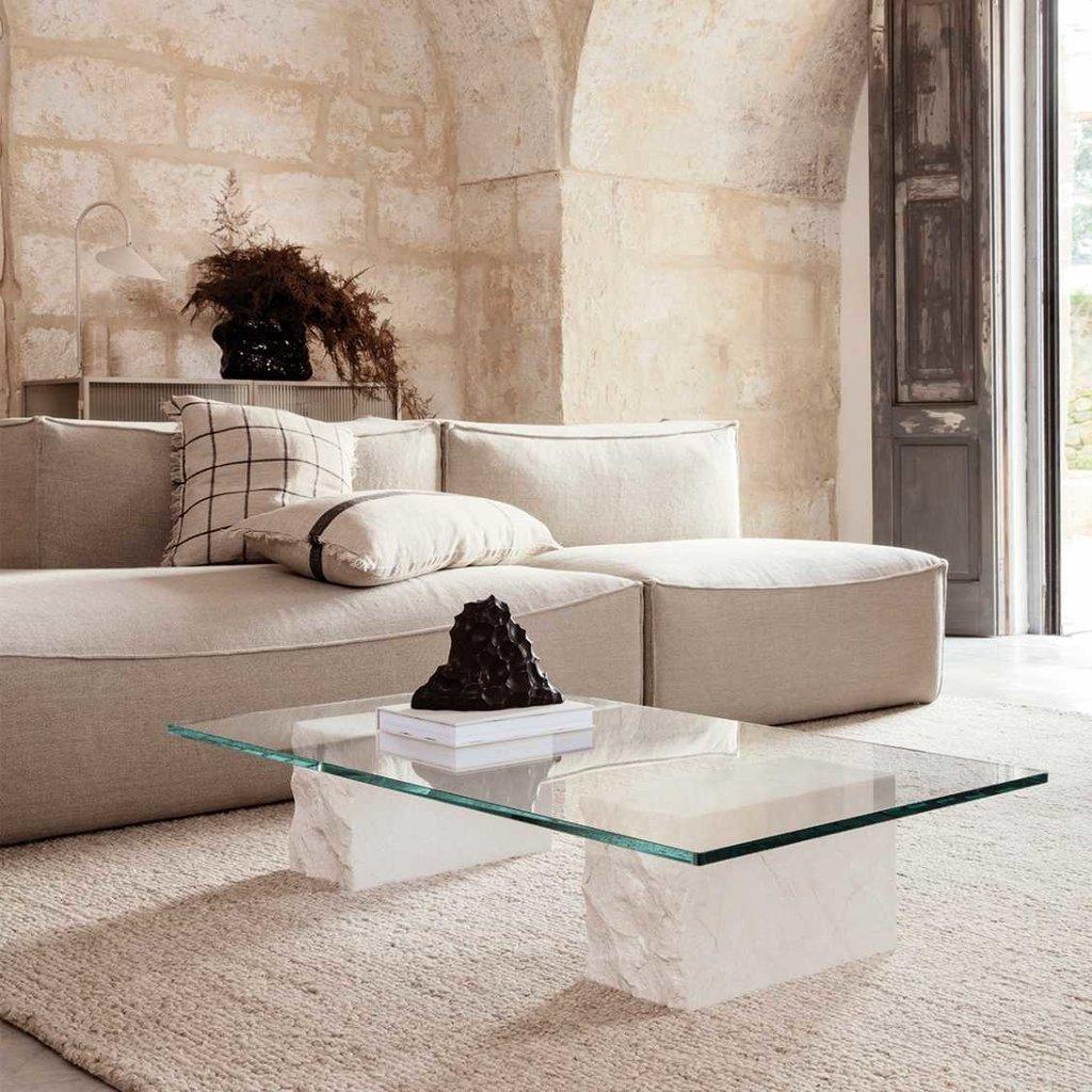 Ferm Living Calm Cushion - Camel/Black
