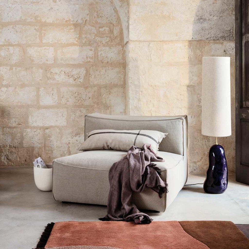 Ferm Living Calm Cushion Long - Camel/Black