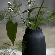 House Doctor Vase - Groove, black L