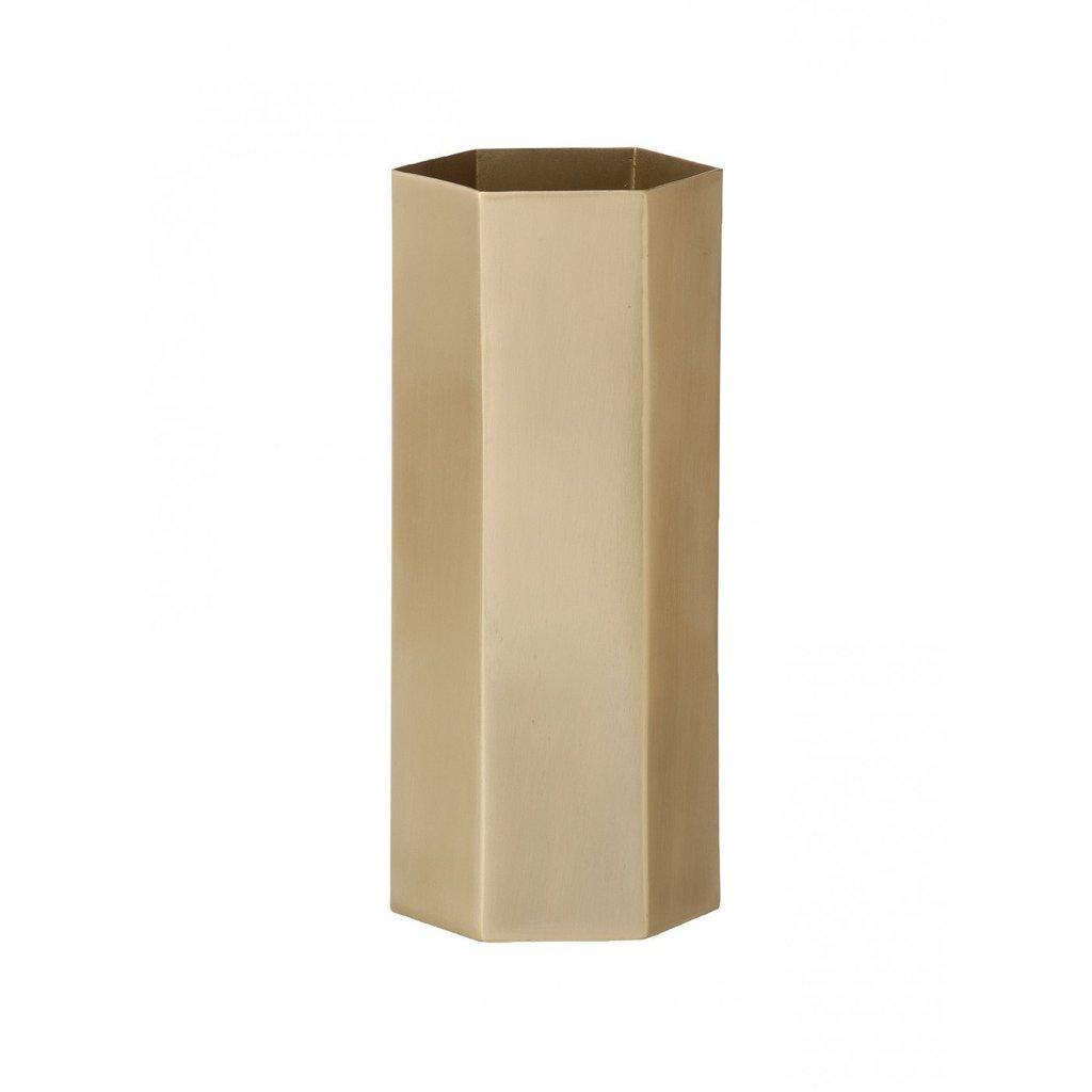 Ferm Living Hexagon Vase - Brass