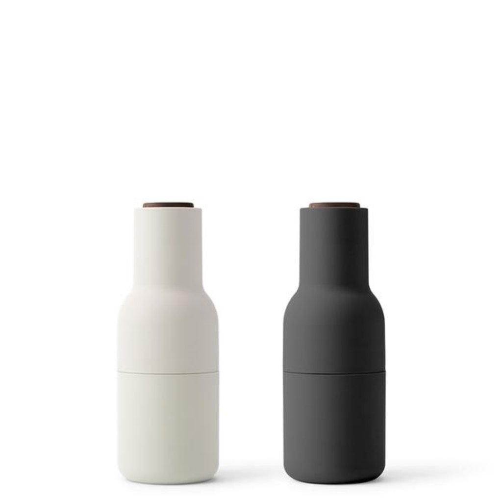MENU Bottle Grinder, Ash, Carbon, Walnut, 2-pack