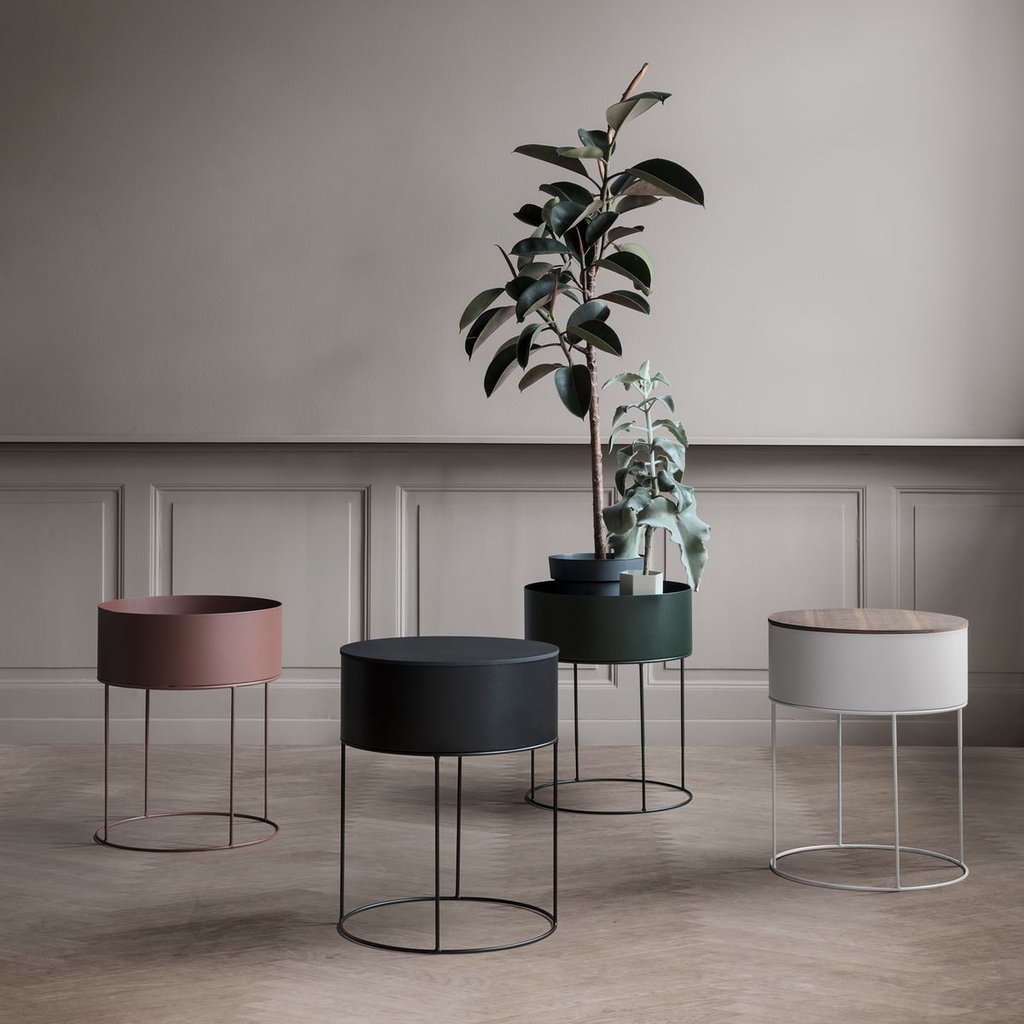 Ferm Living Plant Box Round - Black