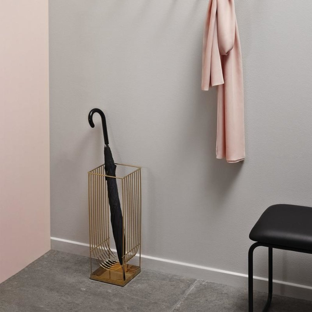 AYTM CURVA umbrella stand gold