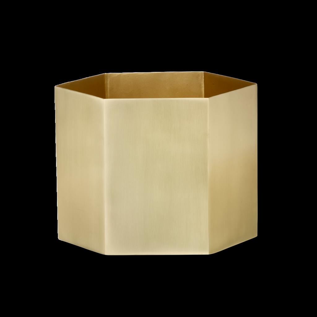 Ferm Living Hexagon Pot - Extra Large - Brass