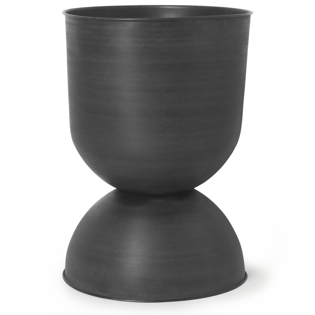 Ferm Living Hourglass Pot - Large - Black/Dark Grey