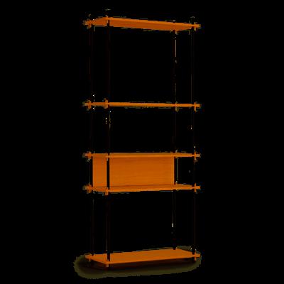 Moebe Shelving System Tall single, oak