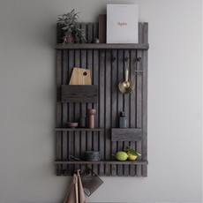 Ferm Living Wooden Multi Shelf - Stained Black