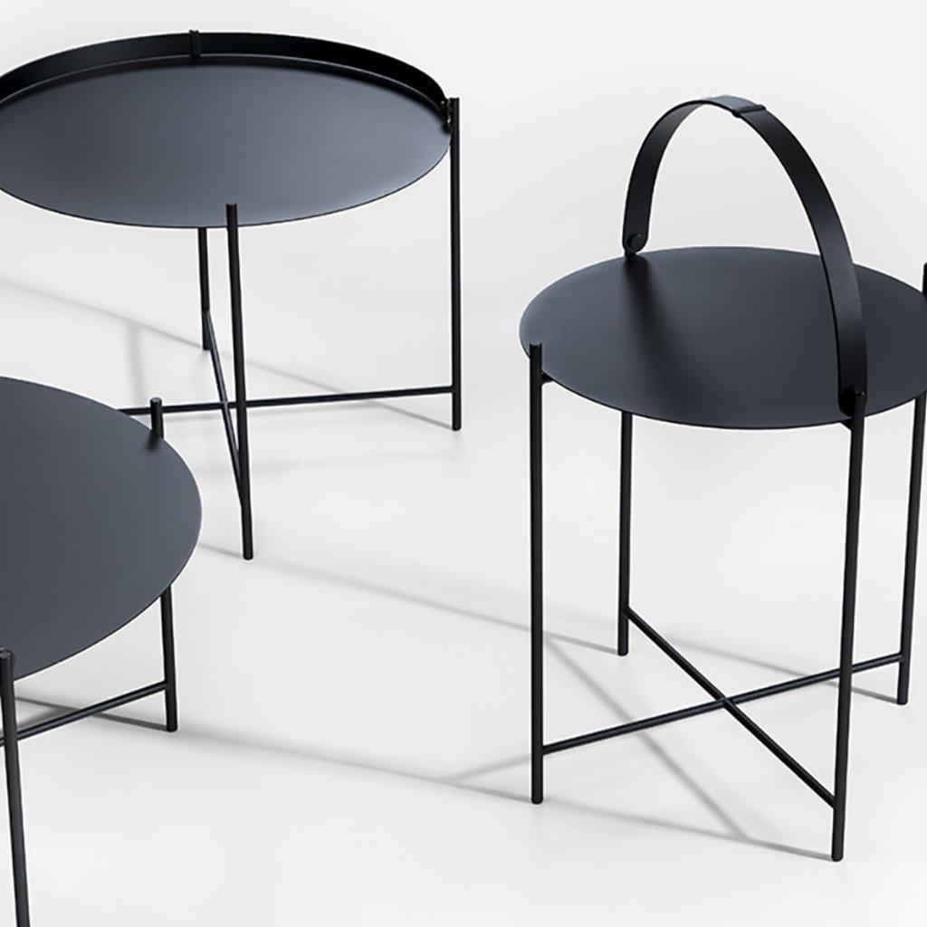 Houe EDGE Tray Table ø46 cm Black