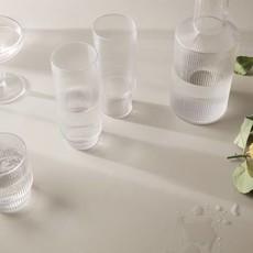 Ferm Living Ripple Long Drink Glasses - set of 4 - Clear