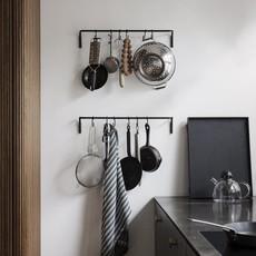 Ferm Living Kitchen Rod incl. 6 hooks - Black