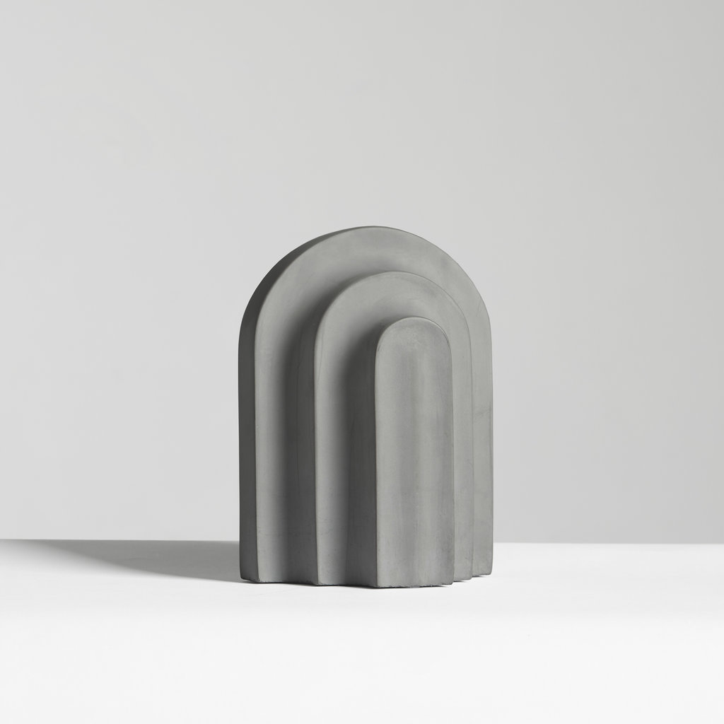 WOUD Arkiv bookend Grey concrete