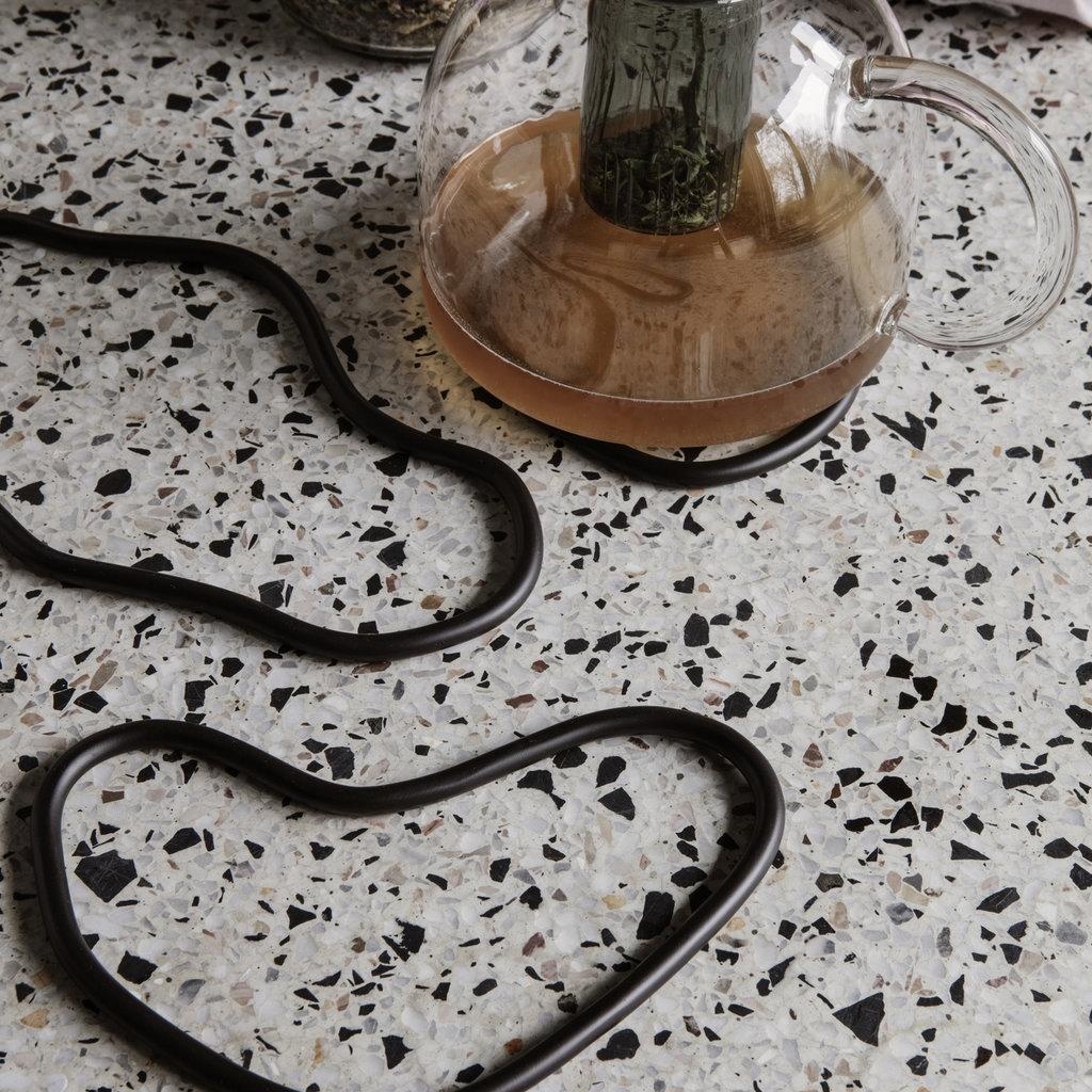 Ferm Living Pond Trivets  Black Brass