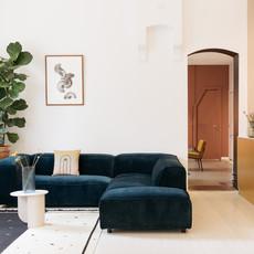 Fest Amsterdam Modulaire sofa Dunbar - 1,5 zit divan arm L + 1,5 zit arm R - Polvere