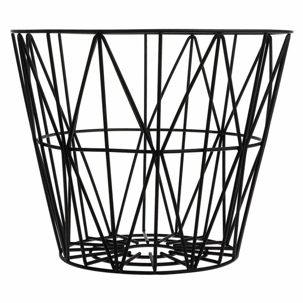 Ferm Living Wire Basket - Black - Small
