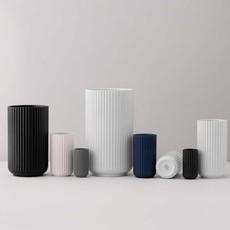 Lyngby Porcelæn Lyngbyvase H25 black porcelain