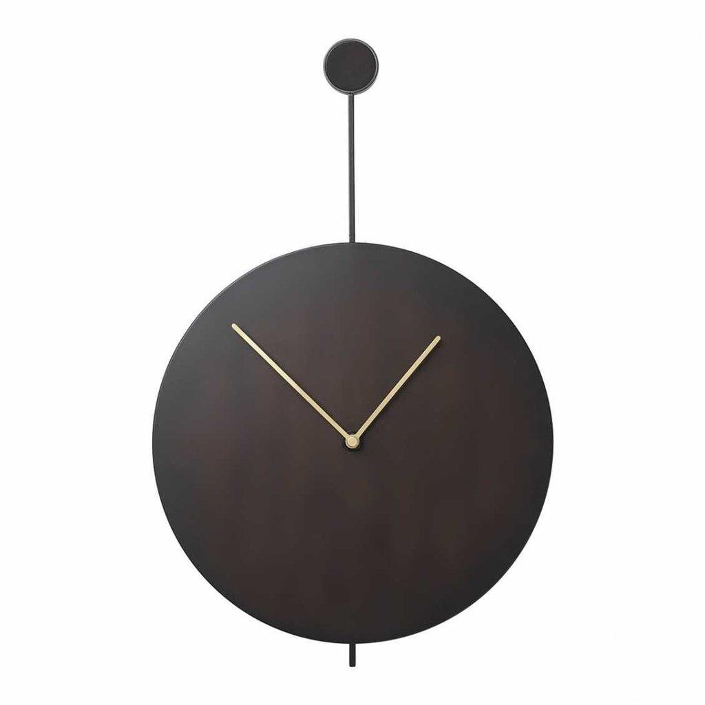 Ferm Living Trace Wall Clock - Black/Brass