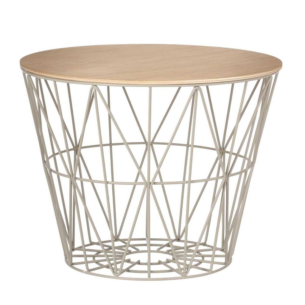 Ferm Living Wire Basket Top - Oiled Oak - Small