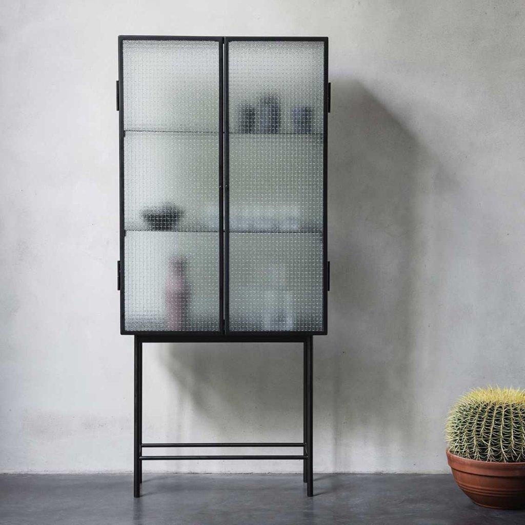 Ferm Living Haze Vitrine - Wired glass - Black