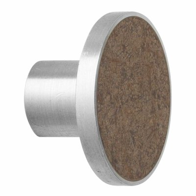 Ferm Living Hook - Stone - Large - Brown Marble