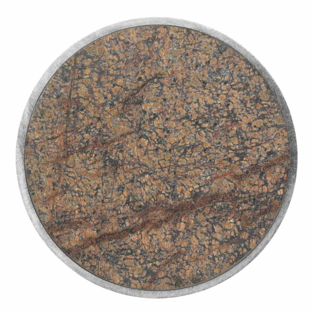Ferm Living Hook - Stone - Small - Brown Marble
