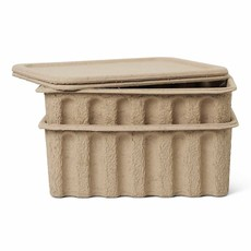 Ferm Living Paper Pulp Box large - set of 2 - Brown