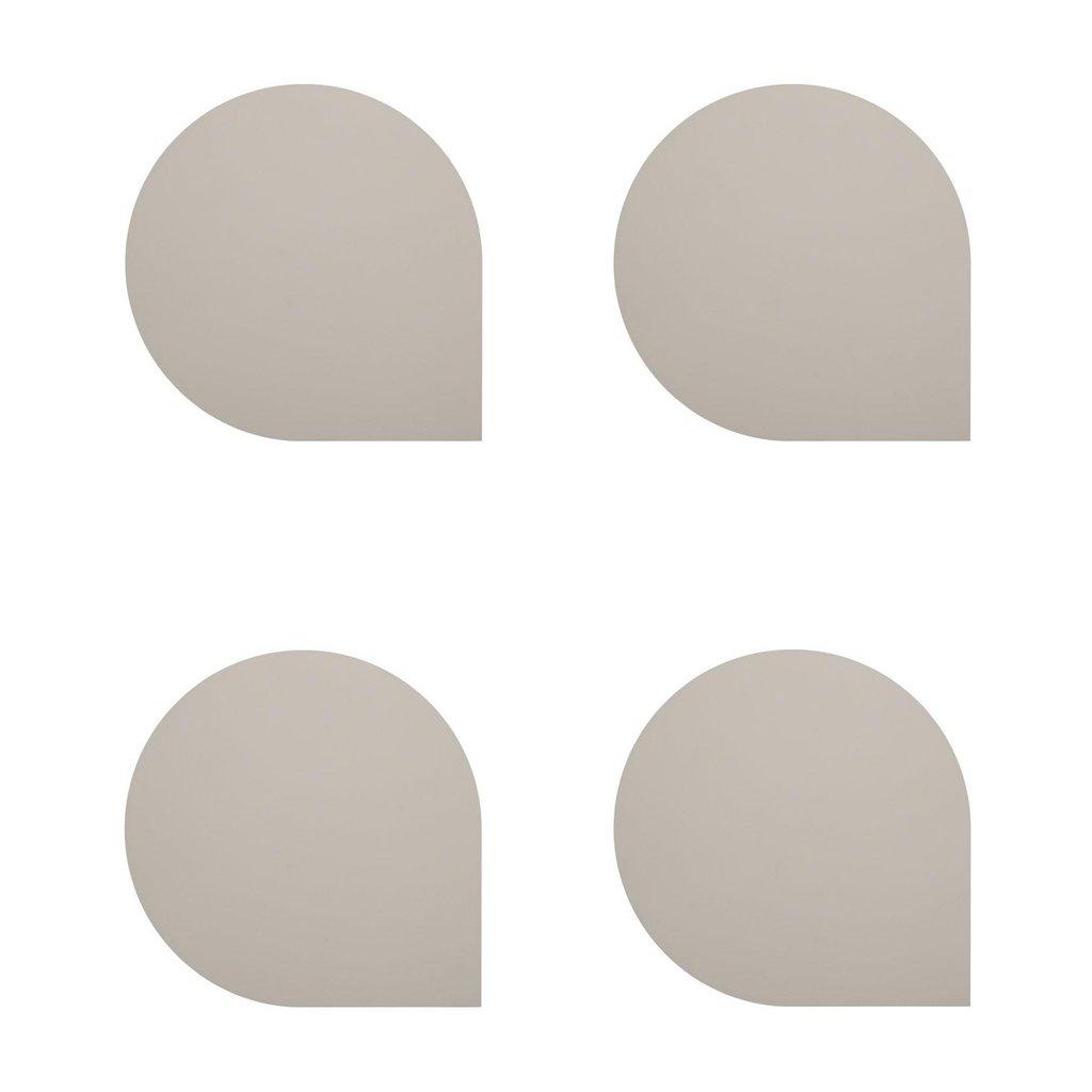 AYTM STILLA Coaster - set of 4 - Taupe
