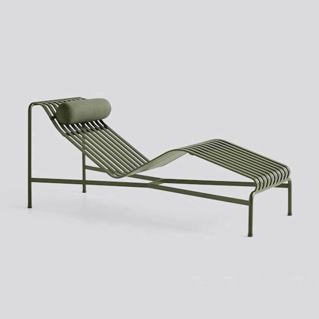 HAY Palissade Chaise Longue Headrest Cushion Olive textile