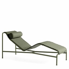 HAY Palissade Chaise Longue Quilted Cushion Olive textile