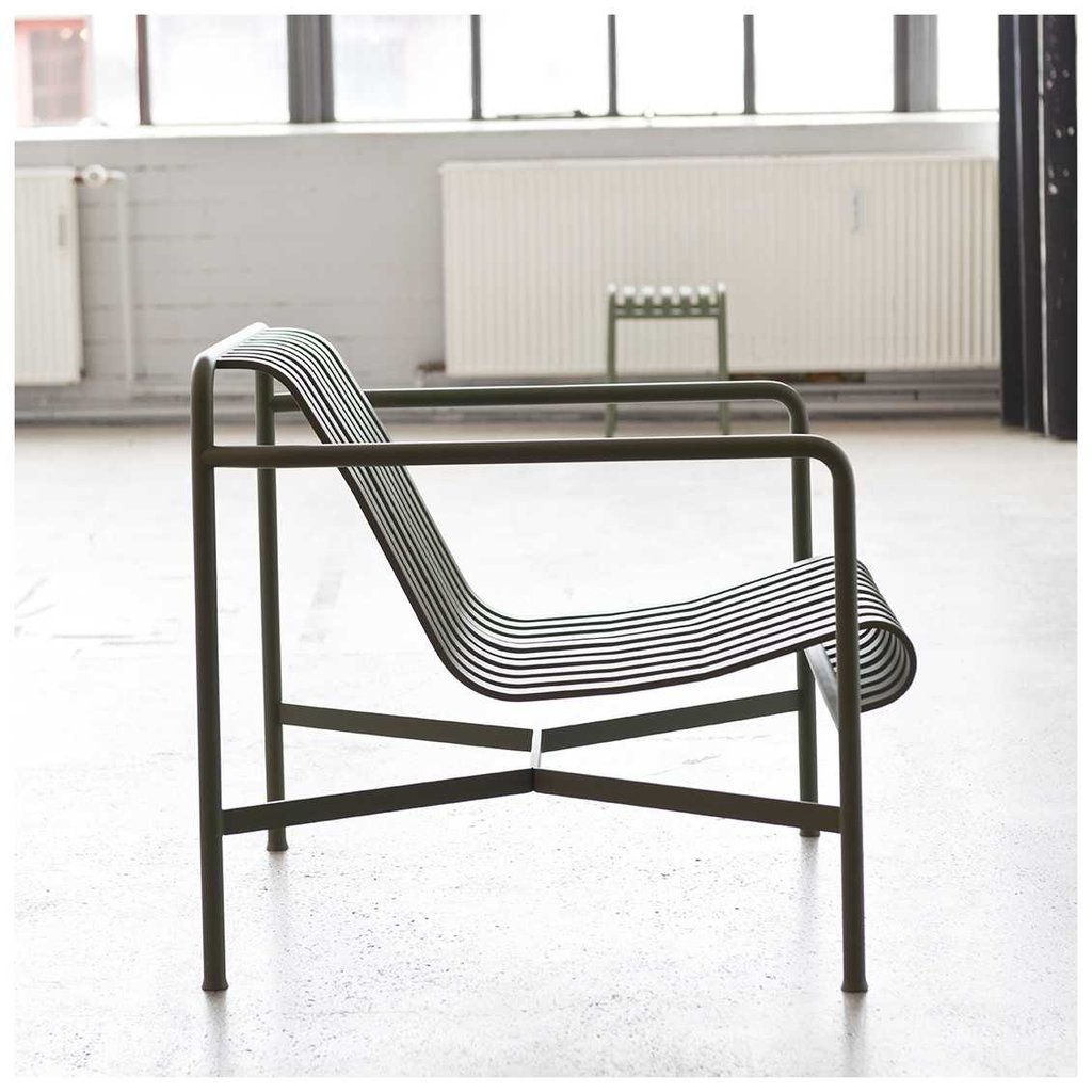 HAY Palissade Lounge Chair Low Olive