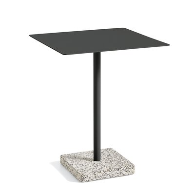 HAY Terrazzo Table Square 60 x 60 Grey Base Anthracite tabletop