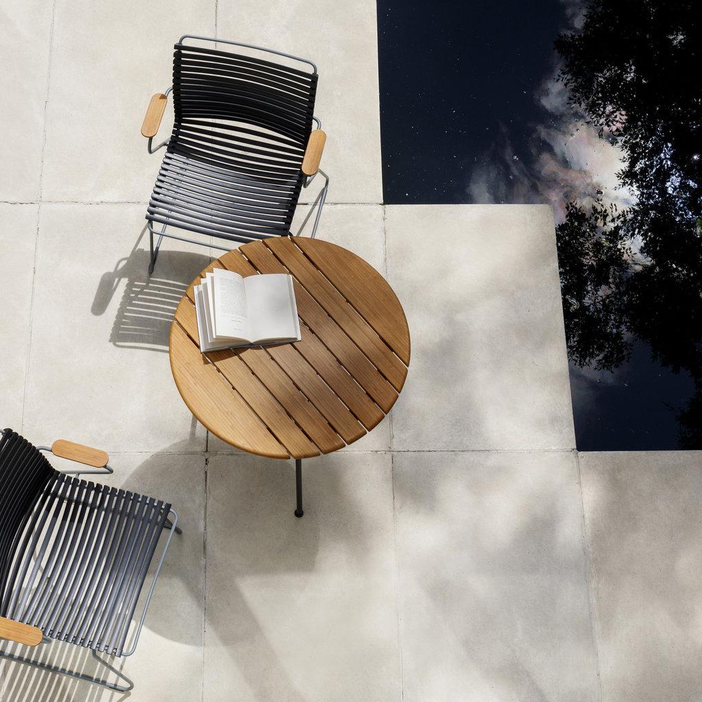 Houe CIRCUM Café Table ø74 - Table Top in Bamboo + Black