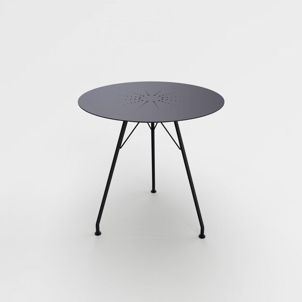 Houe CIRCUM Café Table ø74 - Table Top in Black aluminum + Black