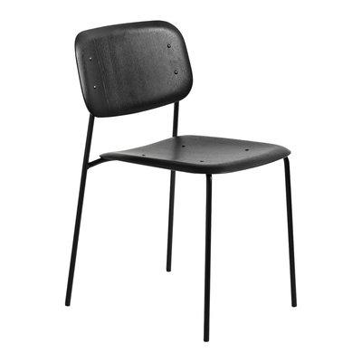 HAY Soft Edge10 Chair Black steel base Black oak seat/back