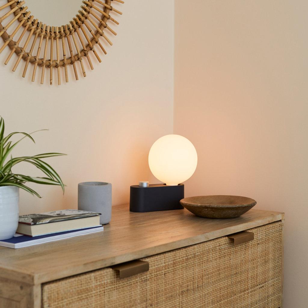 TALA Alumina Lamp Charcoal with Sphere G150 Bulb