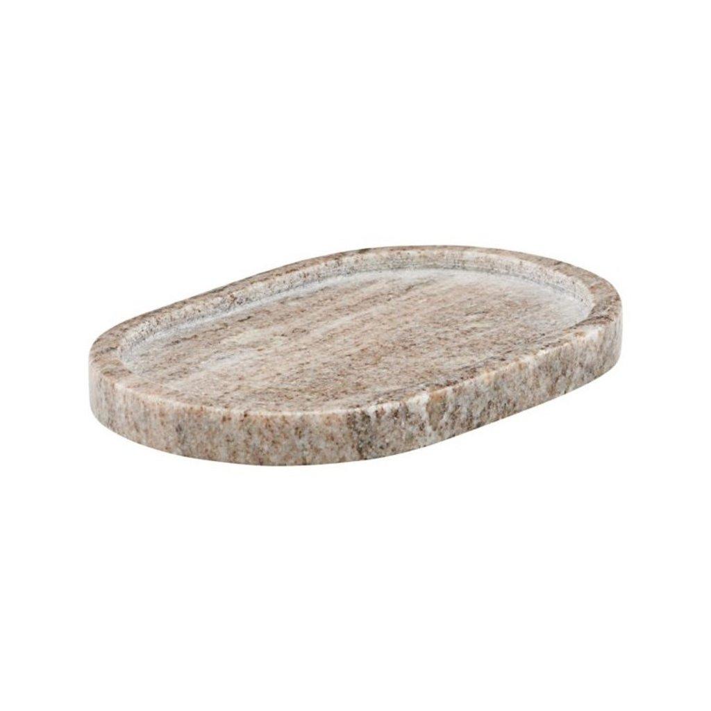 Meraki Tray, Beige Marble, oval