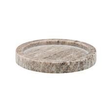 Meraki Tray, Beige Marble, round