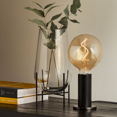 TALA Blackened Oak Knuckle Table with Voronoi I Bulb
