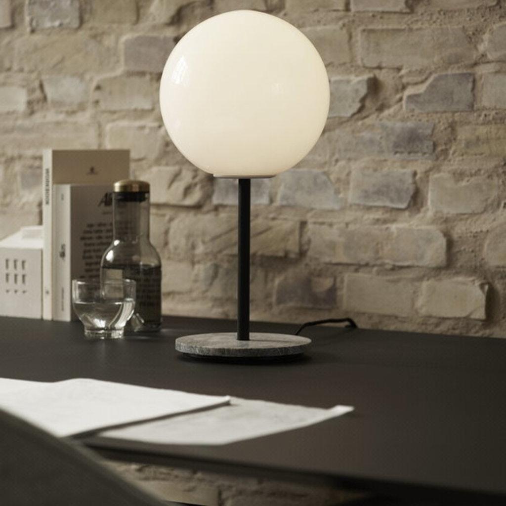 MENU TR Bulb, Table Lamp, Grey Marble w. DtW, Matt Opal Bulb