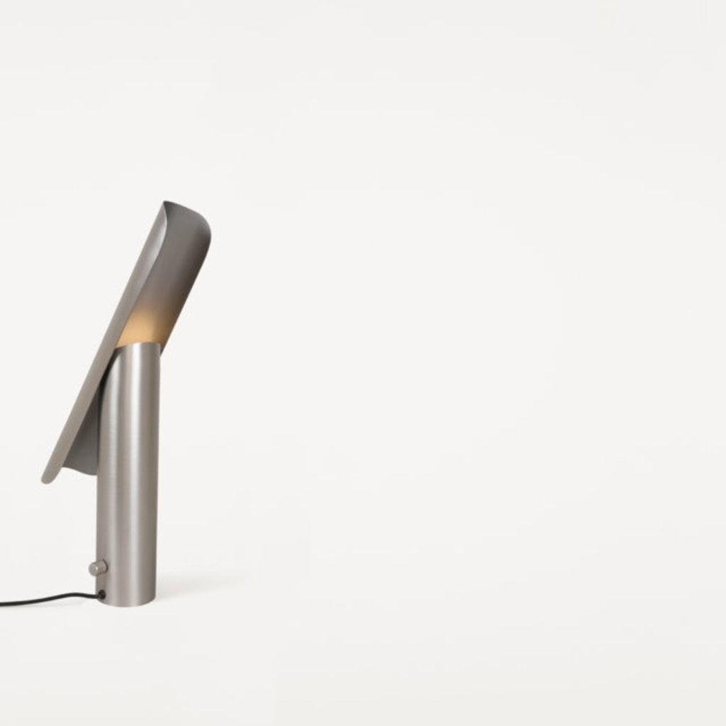 FRAMA T-lamp l table l brushed steel
